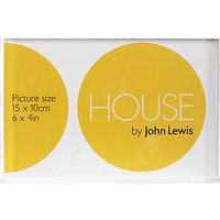 House by John Lewis Clear Acrylic Photo Frame, 5 x 7
