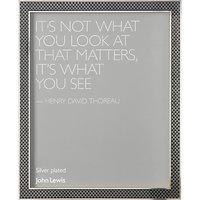 John Lewis Dark Checkerboard Enamel Photo Frame, Silver, 8 x 10