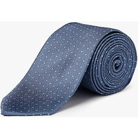 Calvin Klein Pin Dot Silk Tie, Ice Blue