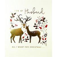 Woodmansterne Deer Couple Silhouette Christmas Card