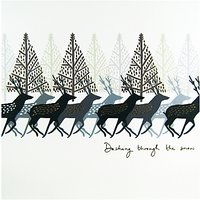 Woodmansterne Deer in the Forest Christmas Card