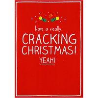 Happy Jackson Cracking Christmas Card