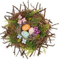 John Lewis Floral Easter Nest Decoration, Multi