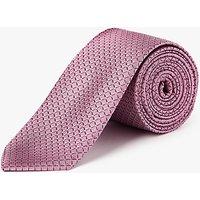 Calvin Klein Grid Silk Tie, Pink