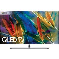 Samsung QE55Q8F QLED HDR 1500 4K Ultra HD Smart TV, 55 with TVPlus/Freesat HD & 360 Design, Ultra HD Premium Certified, Silver