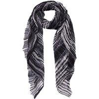 French Connection Monochrome Tie Dye Scarf, Black/White