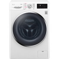 LG F4J6EY2W Freestanding Washing Machine, 8.5kg Load, A+++ Energy Rating, 1400rpm Spin, White