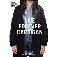 Wool And The Gang Womens Live Forever Cardigan Knitting Pattern