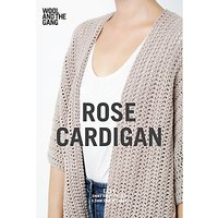 Wool and the Gang Women's Rose Cardigan Crochet Pattern