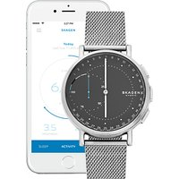 Skagen Connected SKT1113 Mens Signatur Bracelet Strap Hybrid Smartwatch, Silver/Grey