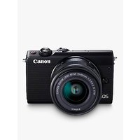 Canon EOS M100 Compact System Camera with EF-M 15-45mm f/3.5-6.3 IS STM lens, HD 1080p, 24.2MP, Wi-Fi, Bluetooth, NFC, 3 Tiltable Touch Screen, Black with Brown Jacket Case