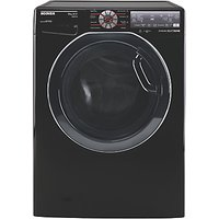 Hoover DWFT410AH8B Freestanding Washing Machine, 10kg Load, A+++ Energy Rating, 1400rpm Spin, Black