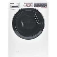 Hoover WDWFT4138AHB Freestanding Washer Dryer, 13kg Wash/8kg Dry Load, A Energy Rating, 1400rpm Spin, White