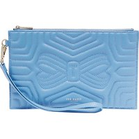 Ted Baker Verda Quilted Leather Wristlet Pouch, Blue