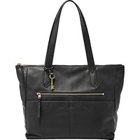 Fossil Fiona Leather East/West Tote Bag, Black