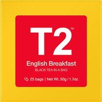 T2 English Breakfast Teabags, Pack of 25