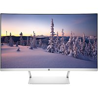 "HP Curved, Full HD, LED Monitor, 27"", White/Silver"