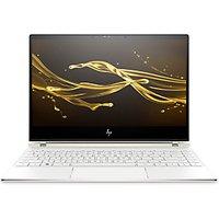 HP Spectre 13-af002na Laptop, Intel Core i7, 8GB RAM, 512GB SSD, 13.3 4K Ultra HD, Ceramic White/Gold