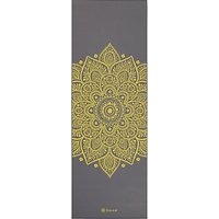 Gaiam Premium Citron Sundial 6mm Yoga Mat, Grey/Citron