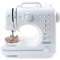 Silver 12 Stitch Mini Sewing Machine, White