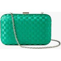 John Lewis Stella Box Clutch Bag, Green