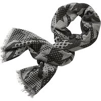 Betty & Co. Long Graphic Weave Scarf, Black/Cream