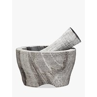 John Lewis and Partners Grey Marble Pestle and Mortar, Dia.14cm