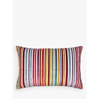 John Lewis Velvet Stripe Cushion, Multi