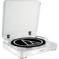 Audio-Technica AT-LP60BT Bluetooth Turntable, White