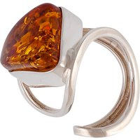 shop for Be-Jewelled Sterling Silver Triangular Baltic Amber Ring at Shopo