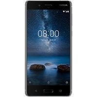 Nokia 8 Smartphone, Android, 5.3, 4G LTE, SIM Free, 64GB