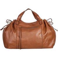 shop for Gerard Darel Le Maxi GD Leather Shoulder Bag, Camel at Shopo