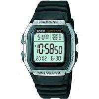 casio w96h1aveshb unisex core resin strap watch, black/green
