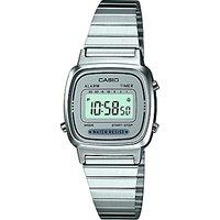 Casio LA670WEA-7EF-HB Unisex Core Bracelet Strap Watch, Silver/Grey