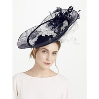 Snoxells Joselyn Side Up Disc Occasion Hat, Navy/White