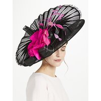 Snoxells Harper Large Fan Occasion Hat, Black/Pink