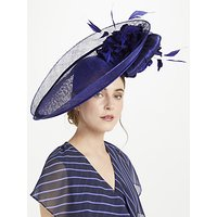 Snoxells Peyton Flower Disc Occasion Hat, Cobalt