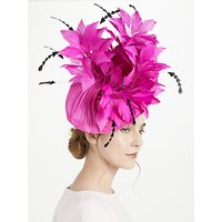 Snoxells Gia Small Disc Feather Spray Occasion Hat, Fuchsia