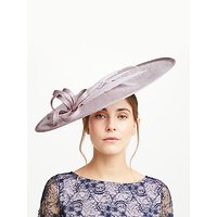 John Lewis Violet Oval Disc Feather Occasion Hat