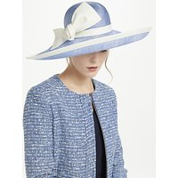 Whiteley Charlie Upturn Disc Bow Occasion Hat, Ivory/Bluebell