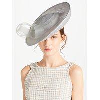 John Lewis Jemma Medium Side Up Disc Occasion Hat, Silver