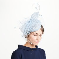 John Lewis Sianne Sinamay Pillbox Veil Bow Fascinator