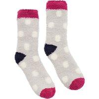 Joules Fab Fluffy Spot Ankle Socks, Multi