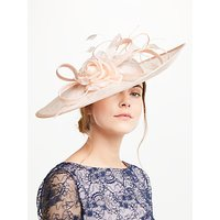 John Lewis Andy Side Up Disc Flower Occasion Hat, Oyster