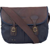 Barbour Wax Cotton Tarras Messenger, Navy