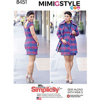 Simplicity Women's Dress And Coat Sewing Pattern, 8451