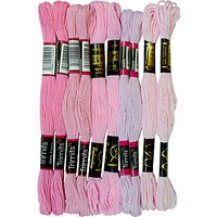 Habico Embroidery Threads, 10 Skeins