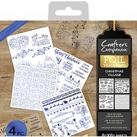Crafters Companion Christmas Village Foil Transfers, Pack of 4