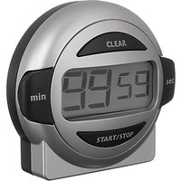 John Lewis & Partners Easy To Read Kitchen Timer, Silver