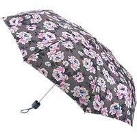 Fulton Minilite Peonies Print Umbrella, Grey/Pink